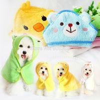 Fashion Pet dog cat cartoon bath towel, 100%cotton washcloth for dogs ,Dog Bathrobes Pet Bath Products Clothes grooming