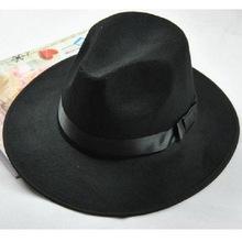 Stylish Autum Winter Men Women Knight Woolen Hat Winter Warm Bucket Hat Retro Topper Fedora(China (Mainland))