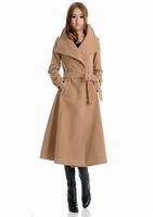 Women Long Slim wool coat cashmere overcoat women fall and winter 2014 women trench coat