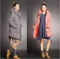 New 2014 down & parkas Duck Down Jacket Winter coat Women Thicken polka dot coat Medium-long Parkas Free shipping