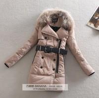 2014 women's winter large fur collar slim fashion medium-long thickening down coat female 3