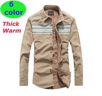 New 2014 Autumn  winter  men  Fashion  Casual  slim fit  shirt  Warm Thick  long Sleeve  camisa shirts M30041   S M L  XL XXL