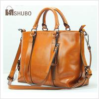 SHUBO Genuine Leather Handbags 2014 Women Vintage Brand Cowhide Shoulder Bags 9 Color Messenger Handbag Bolsas Femininas SH070