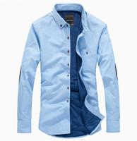 New 2014 Autumn  winter  men  Fashion  Casual  slim fit  shirt  Warm Thick  long Sleeve  camisa shirts M30039-1   S M L  XL XXL