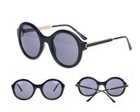 New 2014 fashion sunglasses women round vintage sunglasses oculos de sol 824