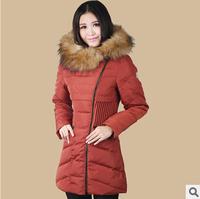 2014 Fashion Hot Sale New Long women Down Jacket Brandwomen's Down Coat Winter Overcoat Outdoor FUR COLLAR Down Parka