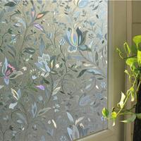 Tulip glass window film decor static cling high quality