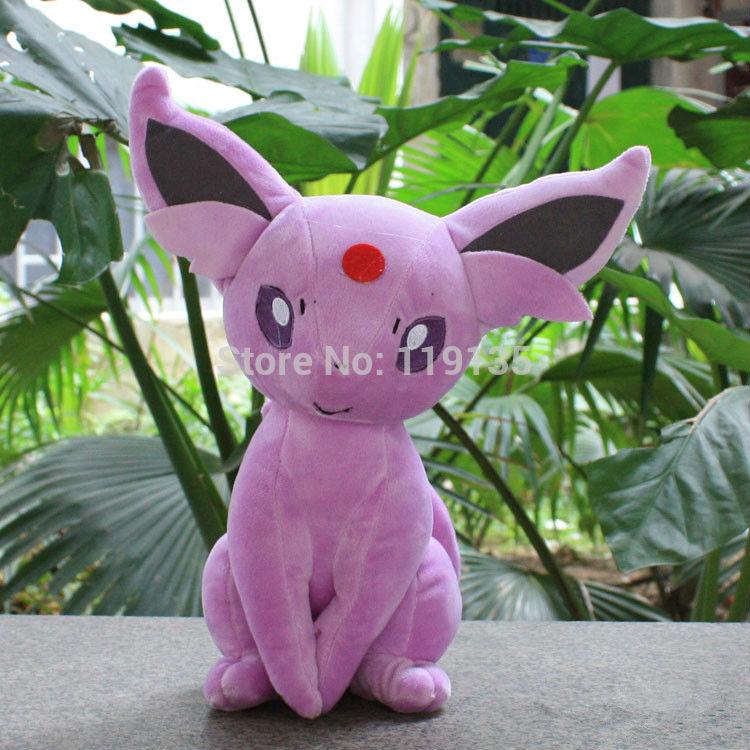 "Wholesale10pcs/ lot Free shipping Pokemon Plush Toys 12"" Big Sitting Espeon Soft Stuffed Animals Toys for children(China (Mainland))"