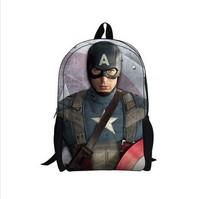 Children Backpacks Captain American Bacpack, Baby School Bags, Student Book Bag for Teenagers