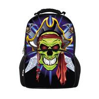 2014 Student Punk  Gothic Style Halloween Skull Backpack Kids School Bag Skull Shoulder Bag