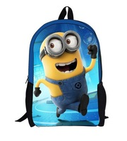 Hot Sale 2014 Children Despicable Me Minions School Bag , Spikes Mochila Minions Bags School for Minions Kids Bag Chirstmas Gift