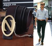 Solid Brass Z Letter Buckle Genuine Leather Brand Belt For Mens Belts Luxury Strap Cinto Masculino Men  Ceinture 2014 MBT0224