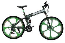 Mountain bike 26 inch wheel speed damping integrated folding bicycle bikes for men bicicleta mountain bike mondraker aerofolio(China (Mainland))