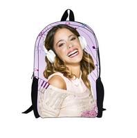 2014 new 3D cartoon bag violetta backpack print school bag for girls violetta children school bag violetta kids schoolbag