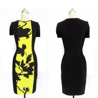 Plus Size  Vintage Bandage Dress Celebrity Dresses 2014 New Womens Slim Bodycon Women Pencil Dress