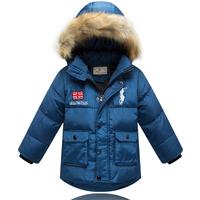 2014 Boys winter thicker duck down outwear coat windbreak robot children coat long sections down jacket for boys kids