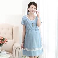 Fashion Korean maternity summer dress code dress pregnant women pregnant women cotton large wholesale one generation