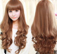318  Ms. Kalan Si matte realistic wig long curly hair fluffy wig big wave of girls