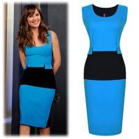 Vintage elegant OL Dress Celebrity Dresses 2014 New Women Slim Bodycon Women Pencil Dress