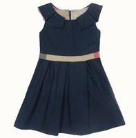2015 Summer sleeveless vest girl dress fashion brand princess belt dress children's clothes baby girls clothing 1-5 years