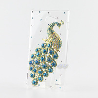 For Sony Xperia M2 Crystal Case lovely Peacock Phone Back Cases Covers Skin for Sony_Xperia M2 S50h Free Shipping