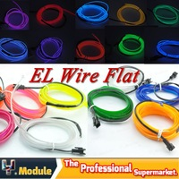 1x el wire strip 5m 12v inverter flexible neon light 5m glow el wire rope flat for car or Party Wedding 10 Colors #YNQ313A