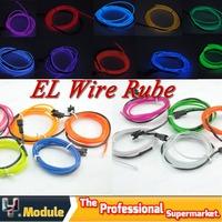 1x EL Strip 5m flexible neon light glow el wire rope tube strip wire flat led strip 5m Battery Powered 10 Colors #YNQ314B