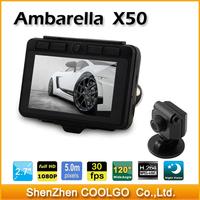 X50 Ambarella HD 1080P Car DVR 2.7 inch 120 degree A+ grade G-sensor Car Camera DVR Recorder