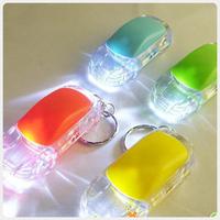 Free shipping colorful key chain light car shape LED light RADOM COLOR