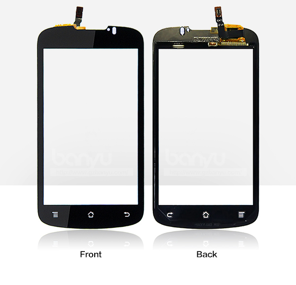 (Sale by 1 piece) Operated smoothly black touch screen for huawei U8815 lcd display(China (Mainland))