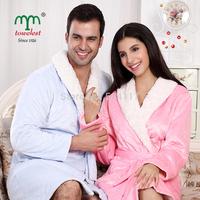 New 2014 MAOMAOYU Brand Bathrobe  - 1PC Cashmere Warm Bathrobe Unisex  Bath Robes Household Winter Dressing Gown 190124