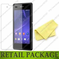 For Sony Xperia E3 D2203 D2206 screen protector film guard,with retail package,free shipping,(2 film+2 cloth),high quality