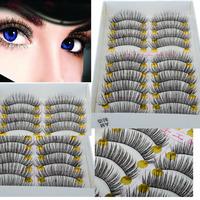 wholesale  mixed 50Pairs/lot  Makeup Beauty False Eyelashes Eye Lashes Extension Long Thick Cross