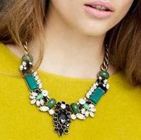 cxt9161 Latest Popular 1PC Vintage Brand Crystal Bubble Bib Choker Statement Women Necklace Pendants
