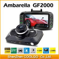 "Original Car dvr Ambarella A5 GF2000 Full HD 1080P DVR Recorder 30fps 2.7"" LCD 170 Wide Angle with G-Sensor"