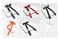Seven Colour Women Girl Sailor School Pre-tied Satin Thin Bowtie Bow Neck Tie