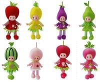 50CM English Music Fruit doll /English songs blinking eyes electronic dolls gift for child intelligent toys for children kids
