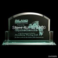 NEW design hot selling high quality jade glass plaque jade glass plaque award