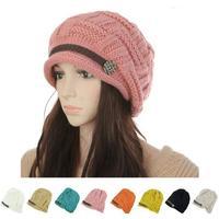 2014 New Winter Women Lady's Knitted Vintage  Warm Girls Headwear Autumn Beanie Hats (8 Colors)