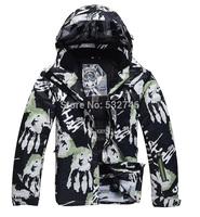 Fashion Men's skiing ski sports jackets coat warm thickness winter men's breathable waterproof outdoor men's ski suit jackets