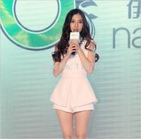2014 Summer New Models Of Women's Clothes Set Ladies Star Yang Ying Split Sleeveless Chiffon Shirt Pants Suit Women