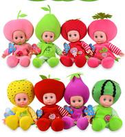 40CM English Music Fruit doll /English songs blinking eyes electronic dolls gift for child intelligent toys for children kids