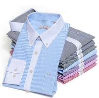 Men  Fashion  casual   slim fit  shirt  cotton  long Sleeve striped  Camisa  shirts LMC0720  XS S M L  XL XXL XXXL