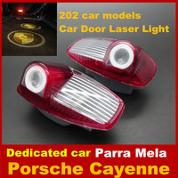 [202 car models] Auto LOGO Laser Lamp LED Projector Badge Ghost Shadow dedicated Car Door Welcome lights For Porsche Free ship