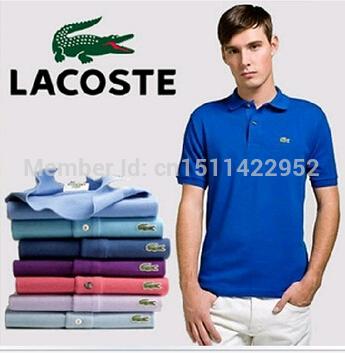 marca novo 2014 la camisa camisas polo t costlying homens de manga curta t- camisas dudalina fitness camisa casual frete grátis(China (Mainland))