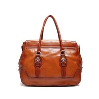 Luxury Famous Brand High Quality Vintage Fashion 100% Top Genuine Leather Cowhide Women Handbag Shoulder Messenger Bag Bags 8003