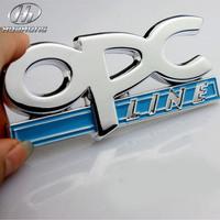 Car OPC link metal body sticker Emblem decoration accessory,suitable for Opel Corsa Meriva Zafira Astra Vectra Antara Mokka