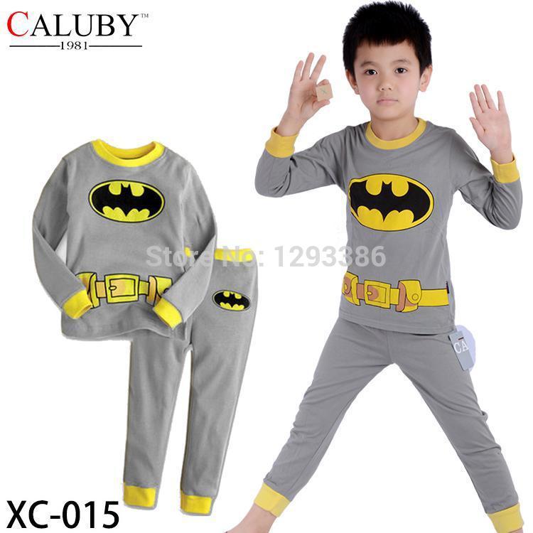 Baby Boy Batman pajamas ,long sleeves homewear,Summer cotton sleepwear,Children soft nighwear(China (Mainland))