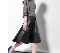 Korean Style 2014 Autumn and Winter vintage knee-length Empire Skirts For Women  Fashion  plus size pleated Skirts