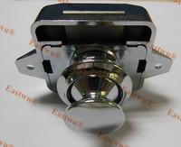 Chrome Plated Push button cabinet latch for rv caravan motorhome Cupboard lock